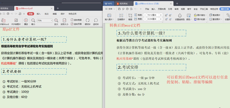pdf文件转换成word文档的方法图6